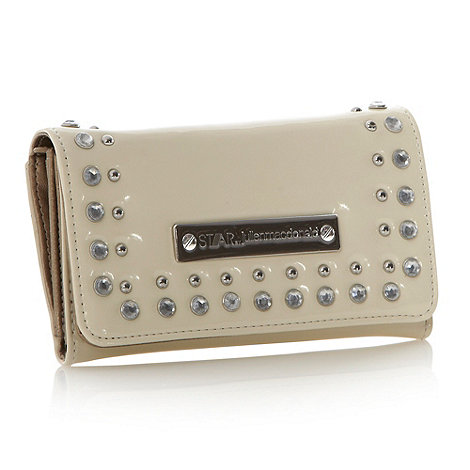 Star by Julien Macdonald - Designer cream stud and diamante flap purse