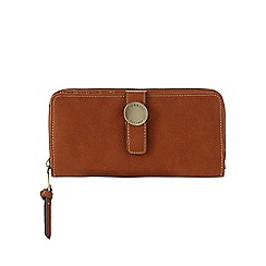 Fiorelli - Tan 'Cyan' zip around purse