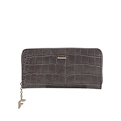 Fiorelli - Grey 'City' mock croc zip around large purse