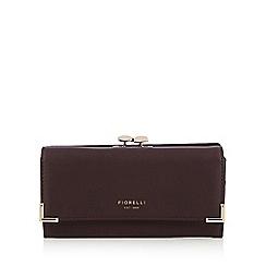 Fiorelli - Dark red 'Laverne' gold frame large purse