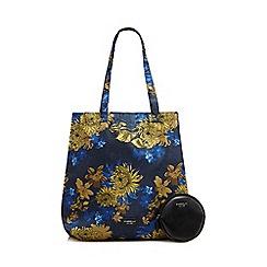 Fiorelli - Blue 'Emma' foldaway shopper bag with a detachable coin purse