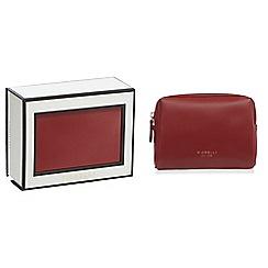 Fiorelli - Red 'Emilia' faux leather make up bag gift box