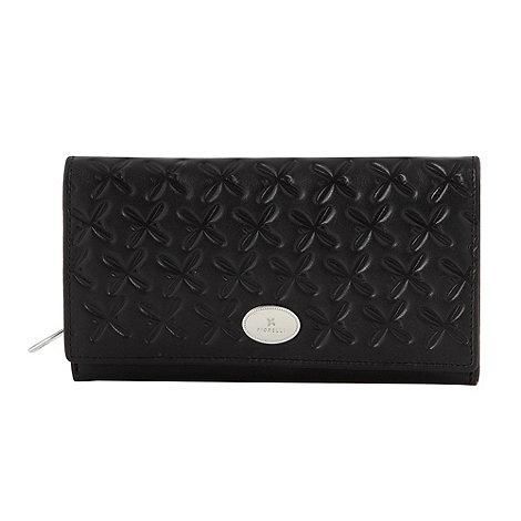 Fiorelli - Black large logo debossed flap purse