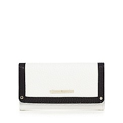 J by Jasper Conran - Black and white grained leatherette purse