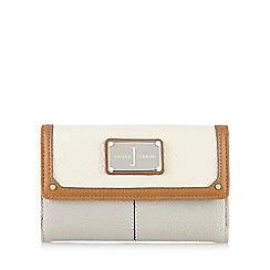 J by Jasper Conran - Cream and grey colour block logo plate purse