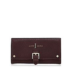 J by Jasper Conran - Dark red mock buckle large purse