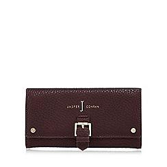 J by Jasper Conran - Dark red mock buckle large purse