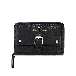 J by Jasper Conran - Black buckle detail zip-around wallet