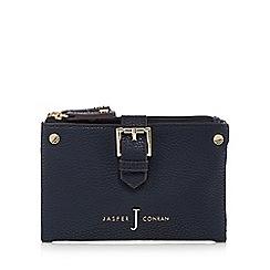 J by Jasper Conran - Navy mock buckled soft fold over medium purse