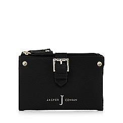 J by Jasper Conran - Black mock buckled soft fold over medium purse