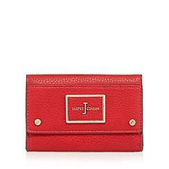 J by Jasper Conran - Red textured medium flap over purse