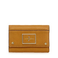 J by Jasper Conran - Tan leatherette plaque detail purse