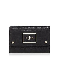J by Jasper Conran - Black textured medium flap over purse
