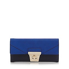 J by Jasper Conran - Navy colour block twist and lock purse