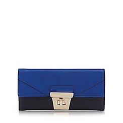 J by Jasper Conran - Navy colour block twist and lock purse