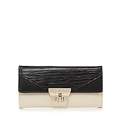 J by Jasper Conran - Cream colour block twist and lock purse