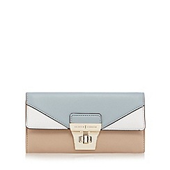 J by Jasper Conran - Tan colour block twist and lock purse