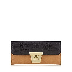 J by Jasper Conran - Tan and black croc-effect large purse