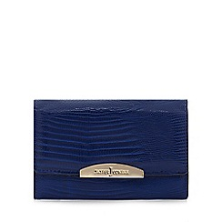 J by Jasper Conran - Blue reptile embossed purse
