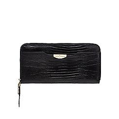 J by Jasper Conran - Black croc-effect zip-around wallet