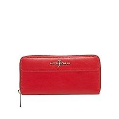 J by Jasper Conran - Red zip around leather wallet