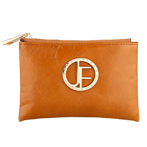 Jack French - Dark brown zip top coin purse