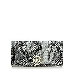 Star by Julien Macdonald - Grey snakeskin-effect large purse