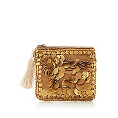 Mantaray - Gold coin detail embellished purse