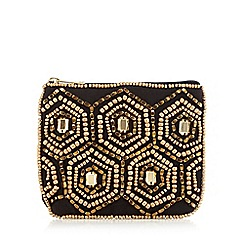 Mantaray - Gold bead embellished purse