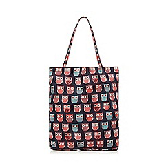 Mantaray - Multi-coloured 'Mantarary' owl print shopper bag