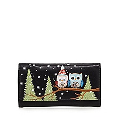 Mantaray - Black snow owl fold over purse