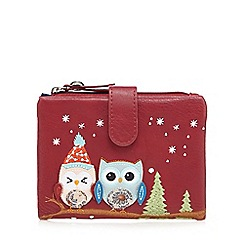 Mantaray - Red snow owl applique purse