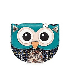 Mantaray - Multi-coloured woven owl coin purse