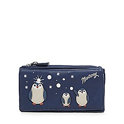 Mantaray - Navy penguin applique fold over purse