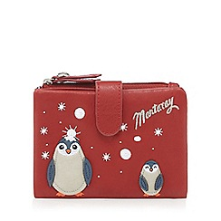 Mantaray - Red penguin applique medium foldover purse