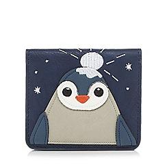 Mantaray - Navy penguin applique card holder