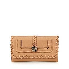 Mantaray - Tan stitched large purse