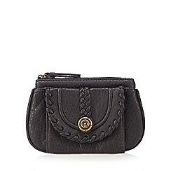 Mantaray - Black stitched small purse