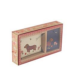 Mantaray - Mullti-coloured sausage dog coin purse and card holder gift box