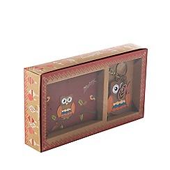 Mantaray - Multi-coloured owl purse and keyring gift box