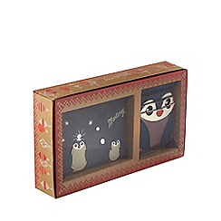 Mantaray - Blue penguin coin purse and card holder gift box