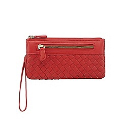 Red Herring - Red woven wristlet