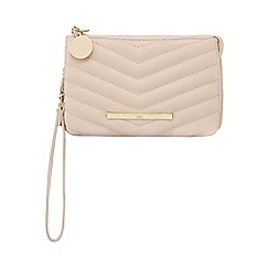Red Herring - Light pink diagonal quilted wristlet