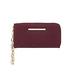 Red Herring - Dark red logo bar wristlet