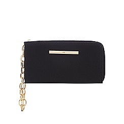Red Herring - Black logo bar wristlet