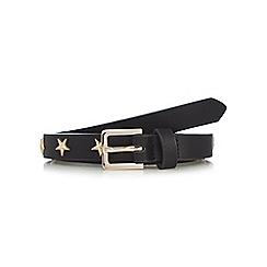 Red Herring - Black star studded skinny belt