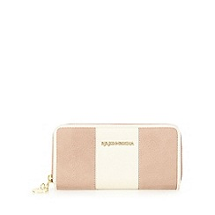 RJR.John Rocha - Light pink colour block large zip around purse