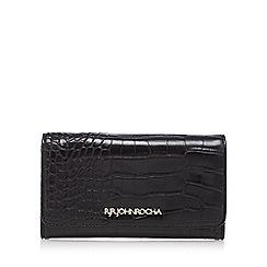 RJR.John Rocha - Black mock croc medium flap over purse