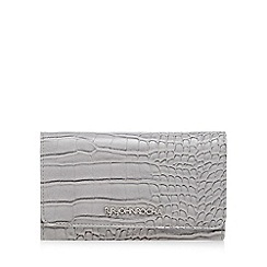 RJR.John Rocha - Grey mock croc medium flap over purse
