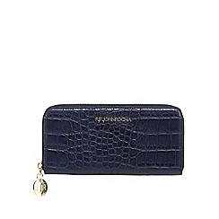 RJR.John Rocha - Navy mock croc zip around large purse